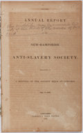 Books:Americana & American History, [Anti-Slavery]. Second Annual Report of the New HampshireAnti-Slavery Society. Presented at a Meeting of theSoci...