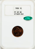 Proof Indian Cents, 1900 1C PR65 Red NGC. CAC....