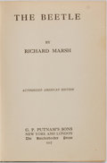 Books:Mystery & Detective Fiction, Richard Marsh. The Beetle. New York: G.P. Putnam's, 1917.Fourth impression. Publisher's green cloth. Very good. . ...
