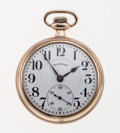 Timepieces:Pocket (post 1900), Illinois 21 Jewel Model 166 Open Face Pocket Watch. ...
