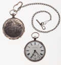 Timepieces:Pocket (pre 1900) , Kendal & Dent & A Swiss Key Wind Pocket Watches. ...(Total: 2 Items)