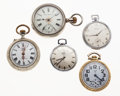 Timepieces:Pocket (post 1900), A Lot Of Five Pocket Watches All Runners. ... (Total: 5 Items)