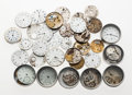 Timepieces:Other , A Lot Of Forty Plus Watch Dials, Movements & Parts. ... (Total:40 Items)