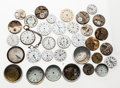 Timepieces:Other , An Assortment of Forty Plus Dials, Movements and Watch Parts. ...(Total: 40 Items)