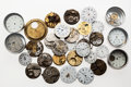 Timepieces:Other , An Assortment Of Forty Plus Dials & Watch Movement & Plus Various Parts. ... (Total: 40 Items)