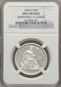 Seated Half Dollars, 1844-O 50C -- Improperly Cleaned -- NGC Details. Unc. NGC Census: (1/30). PCGS Population (0/21). Mintage: 2,005,000. Numis...