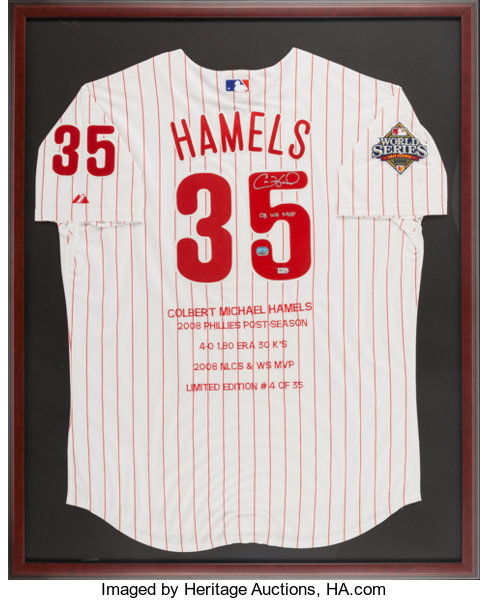 2008 Cole Hamels Signed Philadelphia Phillies World Series  95a4ac6a41b