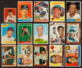Baseball Cards:Lots, 1940-1960's Topps & Bowman Baseball Stars & HoFers CardCollection (15). ...
