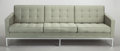 Furniture , FLORENCE KNOLL (American, b. 1917). Sofa, 1960. Upholstery, steel, wood frame, polished chrome finish. 30-1/2 x 90 x 32 ...