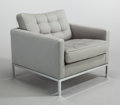 Furniture , FLORENCE KNOLL (American, b. 1917). Lounge chair, 1954. Grey felt upholstery, steel, wood frame, polished chrome finish...