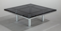 TOBIA SCARPA (Italian, b. 1935) Andre Coffee Table (Model 56-332), 1973 Chrome-plated steel, smoked