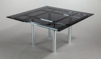 TOBIA SCARPA (Italian, b. 1935) Andre Table (Model 56-336), 1973 Chrome-plated steel, smoked glass