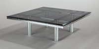 TOBIA SCARPA (Italian, b. 1935) Andre Coffee Table (Model 56-332), 1973 Chrome-plated metal, smoked