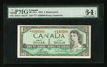 Canadian Currency: , BC-37cA $1 1954 Replacement Note *V/V Prefix. ...