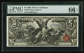 Large Size:Silver Certificates, Fr. 269 $5 1896 Silver Certificate PMG Gem Uncirculated 66 EPQ.....