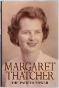 Books:Biography & Memoir, Margaret Thatcher. SIGNED. The Path to Power. London: HarperCollins, [1995]. First edition. Signed by the author o...