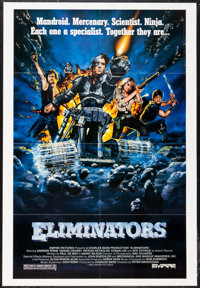"""Eliminators & Others Lot (Empire, 1986). One Sheets (4) (27"""" X 41"""") Regular & 3-D Style. Science Ficti..."""