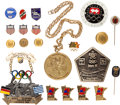 Miscellaneous Collectibles:General, 1928-98 Olympics Pins and Badges Lot of 21....
