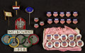 Miscellaneous Collectibles:General, 1930-56 Olympics Pins and Buttons Lot of 27....