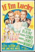 """Movie Posters:Musical, If I'm Lucky (20th Century Fox, 1946). One Sheet (27"""" X 41""""). Musical.. ..."""