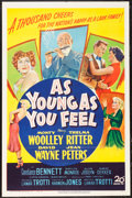 "Movie Posters:Comedy, As Young As You Feel (20th Century Fox, 1951). One Sheet (27"" X 41""). Comedy.. ..."