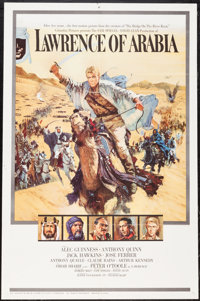 "Lawrence of Arabia (Columbia, 1962). One Sheet (27"" X 41"") Roadshow Style A. Academy Award Winners"