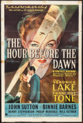 "Movie Posters:War, The Hour Before the Dawn (Paramount, 1944). One Sheet (27"" X 41"").War.. ..."