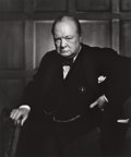 Photographs:20th Century, YOUSUF KARSH (Canadian, 1908-2002). Winston Churchill, 1941.Gelatin silver. 23-3/4 x 19-5/8 inches (60.3 x 50 cm). Sign...