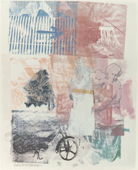 ROBERT RAUSCHENBERG (American, 1925-2008) Untitled, 1984 Offset lithograph in colors 22-3/4 x 18-