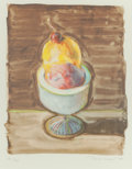 Prints, WAYNE THIEBAUD (American, b. 1920). Sorbet (from The Physiology of Taste series), 1994. Lithograph in colors. 10-3/4...
