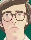 Prints:Contemporary, ALEX KATZ (American, b. 1927). Portrait of a Poet: KennethKoch, 1970. Lithograph printed in colors. 27-3/4 x 22 inches...