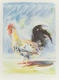 Prints:Contemporary, WAYNE THIEBAUD (American, b. 1920). Rooster (from ThePhysiology of Taste series), 1994. Lithograph in colors.12-1/...