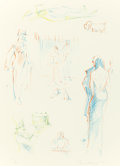 Prints:Contemporary, WAYNE THIEBAUD (American, b. 1920). Bistro Sketches (fromThe Physiology of Taste series), 1994. Lithograph incolor...