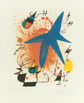 Prints:European Modern, JOAN MIRÓ (Spanish, 1893-1983). Untitled, pl. 3 (from theportfolio Joan Miró Lithographs I), 1972. Lithograph in c...