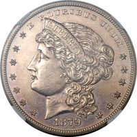 1879 $1 Metric Dollar, Judd-1617, Pollock-1813, R.4 -- Improperly Cleaned -- NGC Details. Proof....(PCGS# 61995)