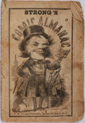 Books:Americana & American History, [Almanac]. Strong's Comic Almanac. New York: T.W. Strong, [1857]. Printed wrappers. String bound. Toned and edgeworn...