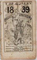 Books:Americana & American History, [Almanac]. Turner's Comick Almanack 1839. Turner &Fisher, [1839]. Publisher's wrappers. Some toning and abrading.I...