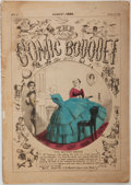 Books:Literature Pre-1900, The Comic Bouquet, Vol. I., No. 8, August 1859. Philadelphia: J.L. Magee, 1859. Publisher's wrappers. Toned, with minor ...