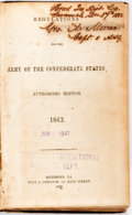 Books:Americana & American History, [Civil War]. Captain George A. Mercer Signed Copy of Regulations for the Army of the Confederate States, 1862. Richm...