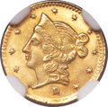 California Fractional Gold, 1853 50C Liberty Round 50 Cents, BG-421, R.4, MS66 NGC....