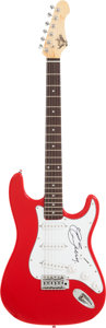 Music Memorabilia:Autographs and Signed Items, Chuck Berry Signed Guitar....