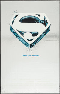 """Superman the Movie (Warner Brothers, 1978). Mylar One Sheet (27"""" X 41"""") Advance. Action"""