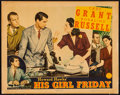 """Movie Posters:Comedy, His Girl Friday (Columbia, 1940). Lobby Card (11"""" X 14""""). Comedy.. ..."""