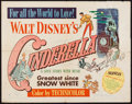 "Movie Posters:Animation, Cinderella (RKO, 1950). Half Sheet (22"" X 28"") Style B. Animation....."