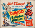 "Movie Posters:Animation, Dumbo/Saludos Amigos Combo (RKO, R-1949). Half Sheet (22"" X 28""). Animation.. ..."