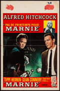 """Movie Posters:Hitchcock, Marnie (Universal, 1964). Autographed Belgian Poster (14"""" X 21""""). Hitchcock.. ..."""