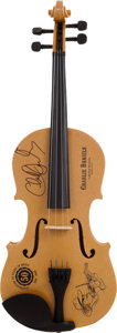 Music Memorabilia:Autographs and Signed Items, Charlie Daniels Signed Fiddle....