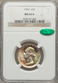 Washington Quarters, 1964 25C MS67 ★ NGC. CAC....