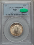 Standing Liberty Quarters, 1917 25C Type One MS65 Full Head PCGS. CAC....