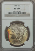 Morgan Dollars, 1886 $1 MS67 ★ NGC....